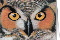 Owl Painting- Here's looking at Hoo! card