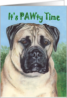 Bullmastiff Dog Pet Breed Party Invitation card