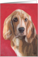 English Cocker Spaniel Dog Breed Painting Happy Birthday card