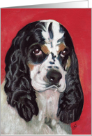 American Cocker Spaniel Dog Breed Painting Happy Birthday card