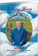 In Loving Memory Custom Photo Upload Memorial Card