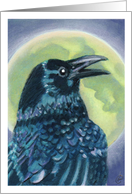 Raven Crow Full Moon Pagan Wicca Party Invitation card