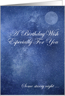 Birthday Wish Especially For You card