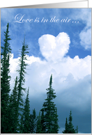 Engagement Congratulations, Heart-shaped Cloud In The Sky card