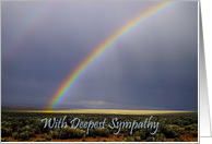 Sympathy With Brilliant Double Rainbow card
