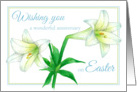 Happy Wedding Anniversary on Easter White Lily Flower Art card