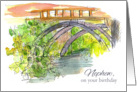Happy Birthday Nephew Bridge Water Outdoor Landscape Art card