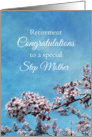 Step Mother Retirement Congratulations Cherry Blossom Tree card