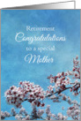 Mother Retirement Congratulations Cherry Blossom Tree card