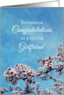 Girlfriend Retirement Congratulations Cherry Blossom Tree card
