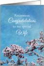Wife Retirement Congratulations Cherry Blossom Tree card