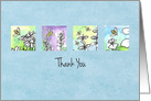 Thank You Honey Bees Watercolor Plant Illustrations card