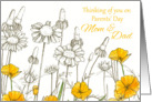 Thinking of You on Parents' Day California Poppy Flowers card