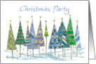 Christmas Party Invitation Patterned Tees Watercolor Art card