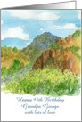 Happy 95th Birthday Watercolor Mountain Landscape Custom Name card