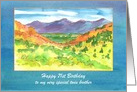 Happy Birthday Twin Brother Autumn Watercolor Landscape Custom card