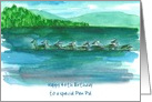 Happy 40th Birthday Pen Pal Mountain Lake Birds Watercolor card
