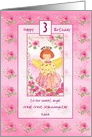 Happy 3rd Birthday Great Great Granddaughter Rose Angel Custom card