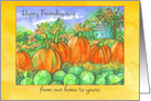 Happy Friendsgiving From Our Home To Yours Pumpkin Patch card
