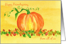 Happy Friendsgiving From All Of Us Pumpkin Autumn Leaves card