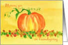 Missing You On Friendsgiving Pumpkin Autumn Leaves card