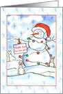 Thank You For The Gift Christmas Snowman Rabbits card