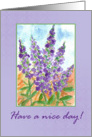 Have a Nice Day Purple Flower Lupines card