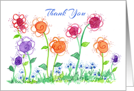 Thank You Administrative Assistant Colorful Flower Garden card