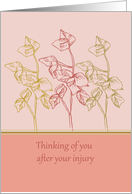Thinking of you after injury get well soon card