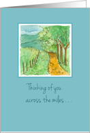 Happy Birthday Across The Miles Country Road Landscape card