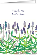 Thank You Custom Relation Name Lavender Flowers Watercolor Art card