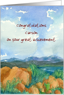 Congratulations Custom Name Landscape Watercolor Painting card