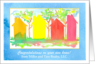 New Home Congratulations from Realtor Custom Name card