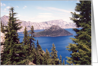 Crater Lake Oregon Blank Card