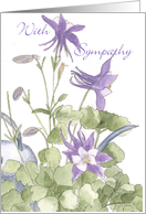 Purple Columbine Sympathy Card