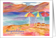 Congratulations On Your Weight Loss Beach Umbrellas card