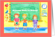 Welcome Back To School Children card