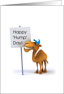 Happy Hump Day! Camel and Sign, Humorous card