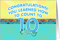 Congratulations! You Learned To Count To Ten, Developmental Milestones card