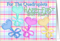 Happy Birthday Quadruplets card