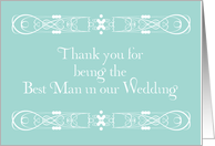 Thank You For Being Best Man card