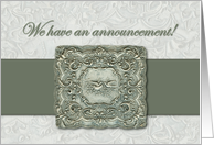 We Have An Announcement! card