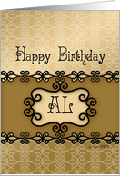 Happy Birthday Al, Name Specific Birthday card