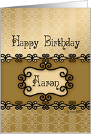 Happy Birthday Aaron, Name Specific Birthday card