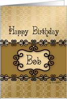Happy Birthday Bob, Name Specific Birthday card