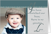 No Greater Love, Grandparents Day Photo Card