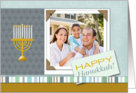 Happy Hanukkah! Menorah - Photo Card You Customize card