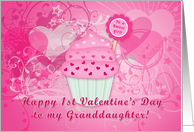 Happy 1st Valentine's Day To My Granddaughter card
