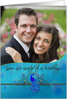 Peacock Wedding Invitation Photo Card