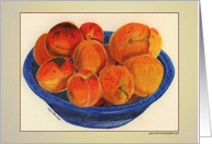 Bowl of Apricots card